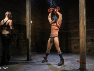 Submissive Stud Andy Jack Bound in Rope and Fucked