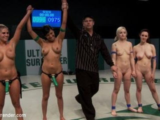 5 girl squirt fest! Losers get dominated by the wi