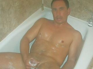 Hunk Jerking Off in the Shower