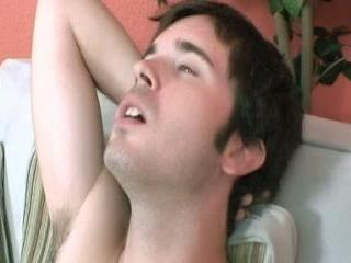 Cute college guy masturbating on webcam