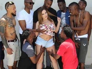 Interracial Blowbang - Natasha Nice
