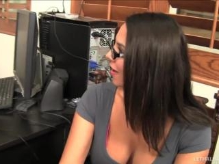 pornstars Alana Evans and Missy Martinez office in