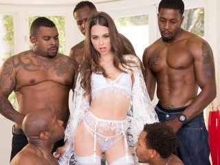 Riley Reid Interracial Gangbang! No Holes Barred!