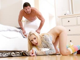 Stepdad Gets Stuck Stepdaughter Sucks