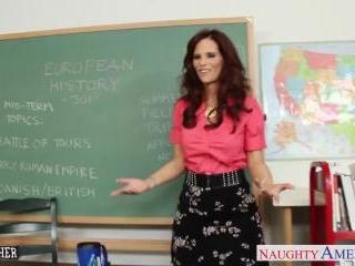 Redhead sex teacher Syren De Mer fucking in the cl