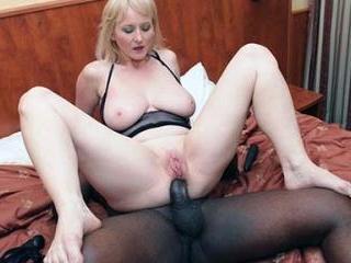 Granny Monik Enjoys Anal With Black Dick