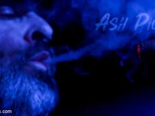 ASH PIGS: Cigar Smoking Leather Daddy Breaks in Hi