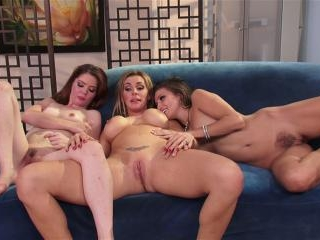 Celeste Star threesome with Jessi Palmer and Tanya