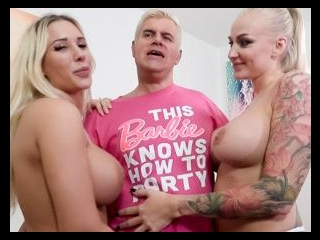 Two Busty Blondes & One Creampie