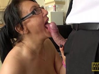 Hot and busty mature gets fucked roughly