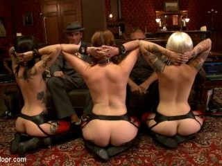 The House slaves Showcase their Foot Job Skills