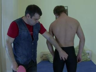 Pretty gay delightful spanking!