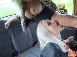 Insatiable Horny Blondes Taxi Fuck