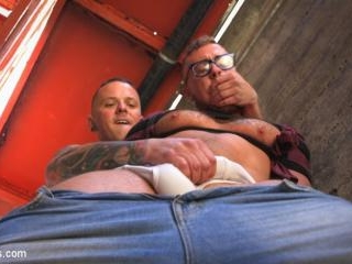 Muscle Stud is Shackled & Flogged in the Streets f