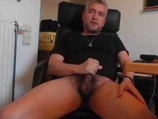 Recorded dude playing with his cock