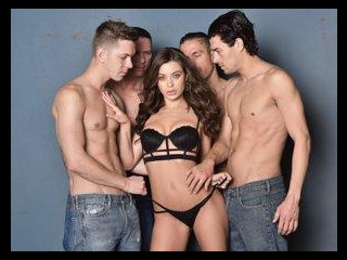 Lana Rhoades First Gang Bang