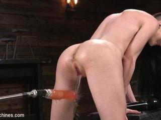 Slender Brunette Newcomer Gets Her First Taste