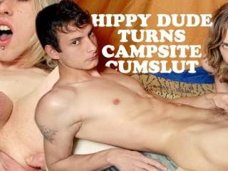Hippy Dude Turns Campsite Cumslut