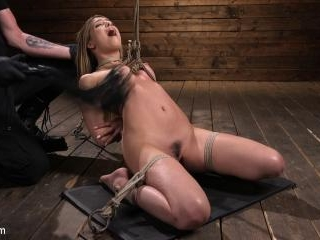 Girl Next Door in Brutal Predicament Bondage with