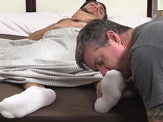 Silas\' Socks and Feet Worshiped While He Sleeps -