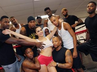 Interracial Blowbang - Valentina Nappi