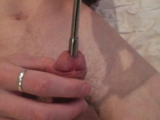 Thick dipstick in cock