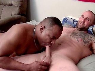 Big Dude Duncan Gets His Uncut Cock Sucked - Dunca