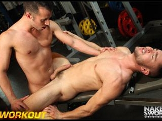 #Workout Scene 3: Ultimate Bench Press - NakedSwor