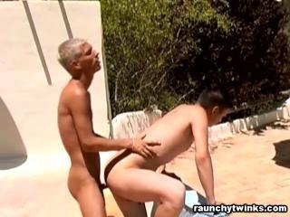 Gay Couple Having Fun Outdoors