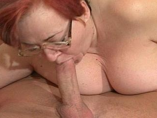 Elder woman oral sex with a sexy strong boy