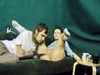 Couple sex fucking in the studio