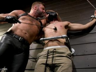 Daddy\'s Boy: Leather Daddy Colby Jansen dominates