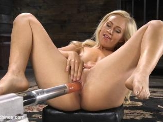 Sexy As Fuck Blonde Babe is Machine Fucked