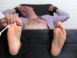Travis Tickled Beyond His Limits - Travis