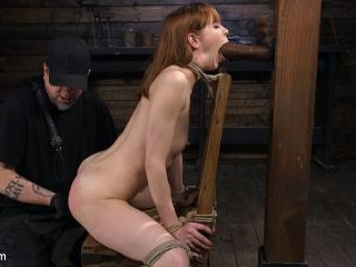 Red Headed Rope Slut Gets Brutalized and Made to C