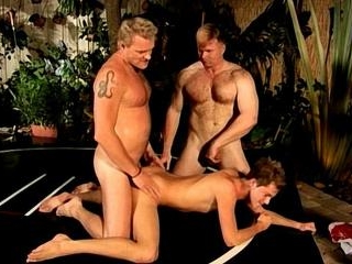 Twink Fucked By 2 Muscle Bear Studs
