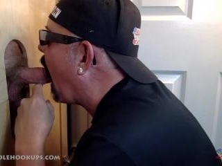 Asian Guy Blown At the Gloryhole