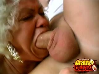 Grandmas Francesca and Erlene Sharing a Young Cock