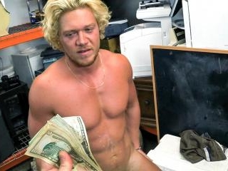 Blonde muscle surfer dude needs cash