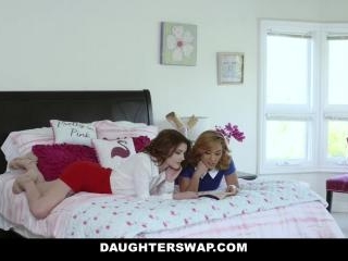 Sexy Milfs Swap Their Aggressive Teen Slut Daughte