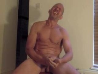 Wild daddy having a wank on cam