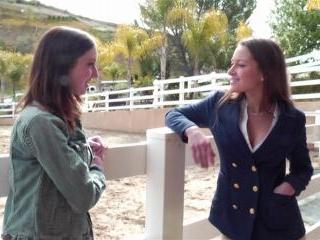 Ally Evans and Dani Daniels erotic lesbian scene