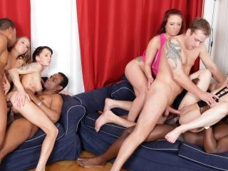 Four Frantic Floozies Take Four Sex Toys and Four