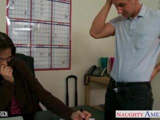 Sexy teacher Syren De Mer suck and fucks a big coc
