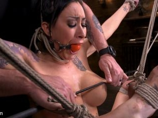 Tattooed Slut Brutalized in Bondage and has Squirt