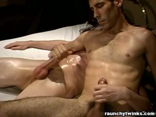 Gay Oil Massage And Blowjob