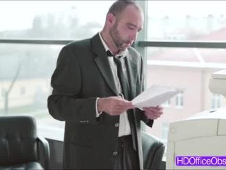 Hot babe secretary Kyra Hot gets ride a bigcock li