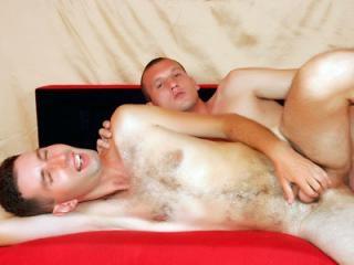 Hairy gay bottom enjoys bareback anal