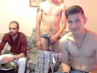 Sexy homosexual is frigging in the bedroom and fil