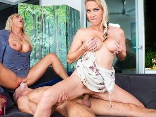 German Milfs Julia Pink & Lana Vegas Have a Hot Tr